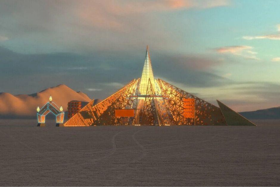 Así Lucirá El Templo De Burning Man 2020